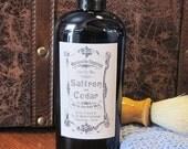 Saffron and Cedar Just for Men All in One Body Wash - Shower Gel - Shampoo - Bubble Bath - Vegan