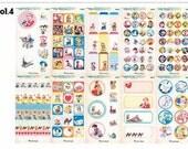 10 Sheets of Vintage Deco Sticker Set Vol.4  -  Lovely Child