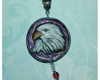 Bald Eagle Handmade Clay Pendant