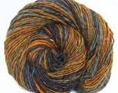Handspun Yarn handcarded Merino wool alpaca camel sari silk
