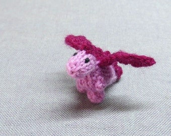 Tiny Naomi the Dragon - Knitted and Crocheted