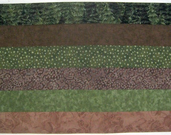 Placemats Earth Brown and Olive Green Set of 4