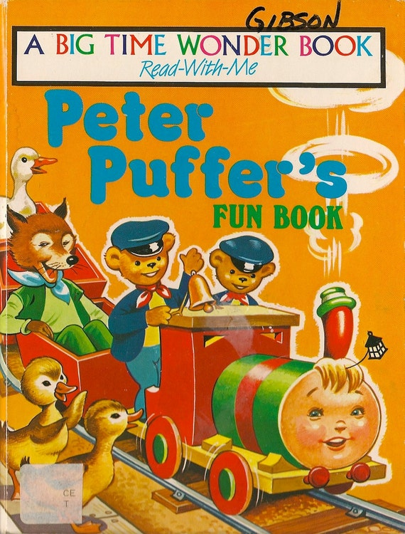 VINTAGE KIDS BOOK Peter Puffer's Fun Book