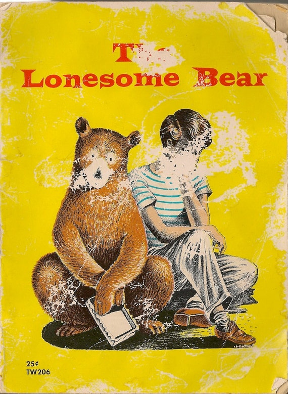 VINTAGE KIDS BOOK The Lonesome Bear