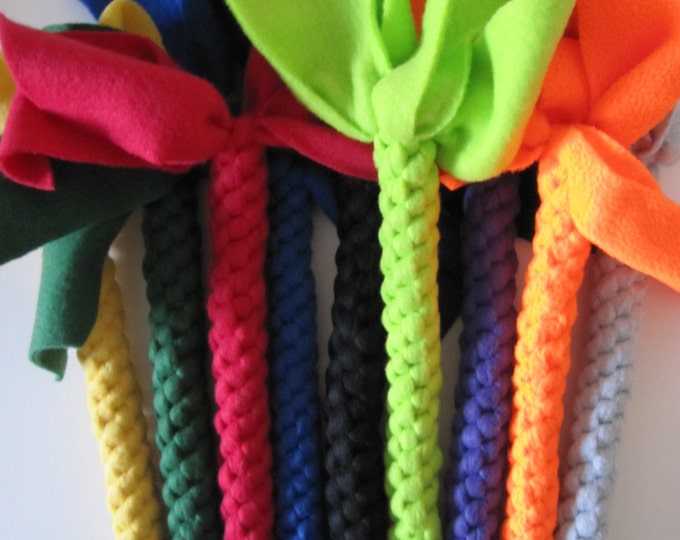 Solid colors Large Fleece dog tug chew toy
