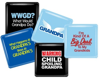 Grandpa Magnet Set - Grandfather, Father's Day - Granparent Gift