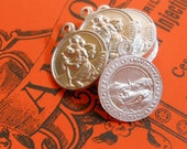 8pcs Very Tiny ST. CHRISTOPHER MEDALS 1940s Vintage France
