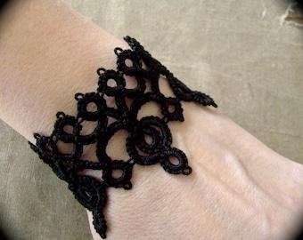 Tatted Lace Cuff Bracelet - Diadem