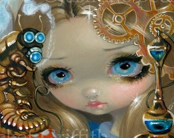 Faces of Faery 209 alice in wonderland steampunk fairy face art print by Jasmine Becket-Griffith 6x6 caterpillar