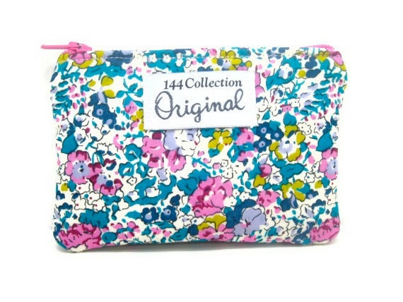 Change Purse - Claire Aude Pink Floral Change Purse Liberty of London Fabric