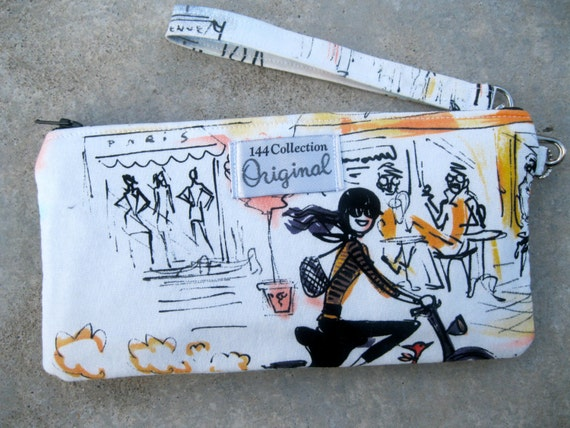 Wallet Wristlet - Ragazze e Ragazzi French Cafe Wristlet Wallet