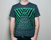 Double Pyramid Evil Eye Grey Tee