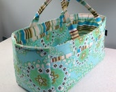 Scrapbooking Caddy | Craft Sewing Tote | Amy Butler Daisy Chain fabric