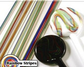 Rainbow Lampwork Striped Stringers - 104coe