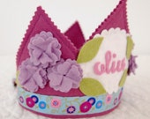 Waldorf Felt Birthday Crown - Lavender Flowers