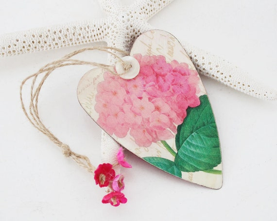 Hydrangea on a Tin Heart
