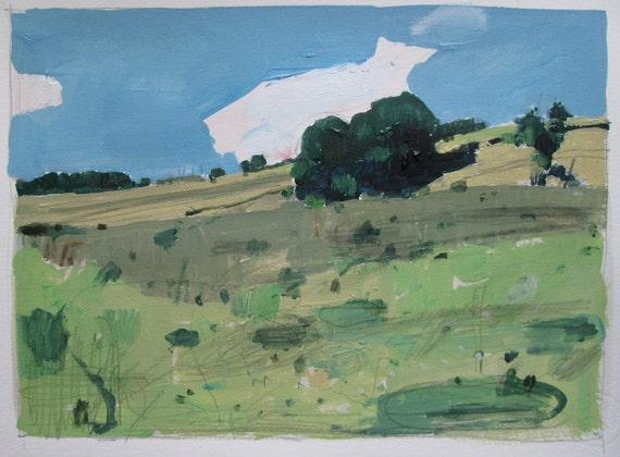 Remember, Original Landscape Painting on Paper