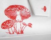 100 per cent linen mushroom tea towel
