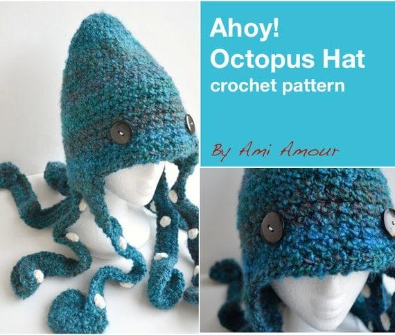 Ahoy Octopus Hat Pattern Crochet PDF