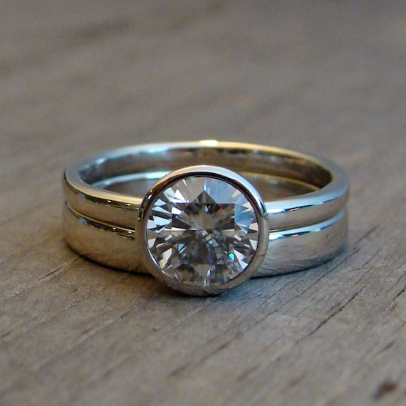 items similar to moissanite engagement ring and wedding