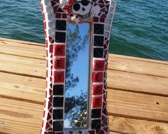 Pirate's of Key West Mosaic Mirror Handmade Ceramic tile Art One af a kind artist made