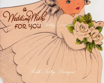 A Wedding Wish For You Vintage Digital Download Printable Images (370)