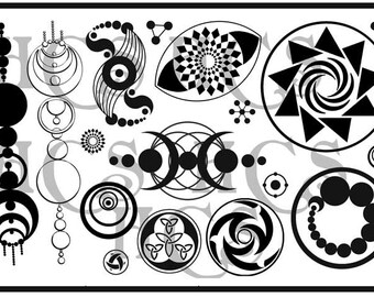 Crop Circle Unmounted Rubber Stamp Collection Brand New