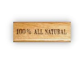 100 percent All Natural mounted rubber stamp, No.15