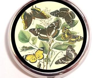 Butterfly Fantasy Pill Box Pillbox Case Trinket Box Vitamin Holder Whimsical Butterflies Insect Art Metamorphosis Holds Guitar Picks