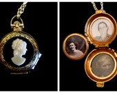 Vintage Coro 4 Photo Locket Necklace - Family Togetherness