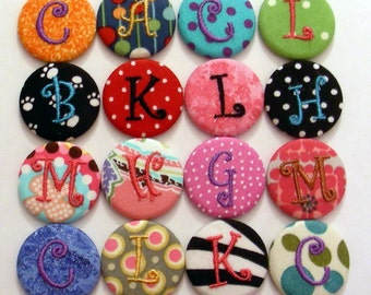 3 Monogrammed Swivel Clip  or Badge Reel Id Holder Your choice of personalized design