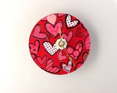 Valentine Upcycled CD Clock FREE US Shipping