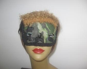 Camouflage handmade mardi gras clothing costume masks