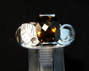 Woodland Shimmer - Topaz gemstone ring