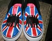 One Direction  Shoes, Union Jack, Irish Flag, 1 Direction boys 5 girls 7
