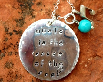 Long Sterling Silver Custom Quote Necklace