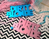 Mirrored Acrylic DIRTY BLONDE Necklace