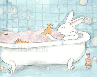 Bunny Bubbles - Fine Art Rabbit Print