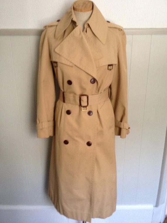 Vintage 70s Etienne Aigner Beige Trench Coat