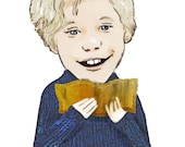 Ode to Charlie ... Charlie and the Chocolate Factory inspired ... limited edition print