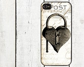 iphone 6 case Vintage Heart Lock iPhone Case - for iPhone 4,4s,  & iPhone 5  - Valentine's Day
