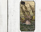 Colorful Kraken Cell Phone Case or iphone 5 iphone 5s iphone 5c iphone 4 iphone 4s samsung galaxy s3 samsung galaxy s4 Father's Day Gift