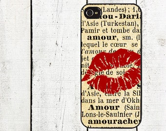 French Kiss Phone Case for  iPhone 4 4s 5 5s 5c SE 6 6s 7  6 6s 7 Plus Galaxy s4 s5 s6 s7 Edge