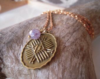 Lavender Navajo Tribal Necklace