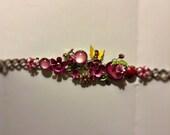 Fantasy Floral Garden Gemstone & Crystal Bracelet