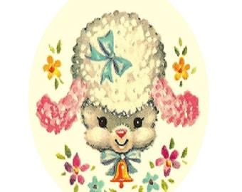 Vintage Baby Lamb Cross Stitch Pattern PDF