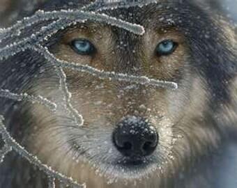 Wolf Cross Stitch Pattern PDF