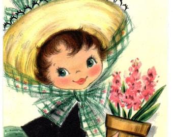 Flower Girl Cross Stitch Pattern PDF