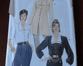 Vogue 8912  Misses Loose Fitting Blouse or Tunic Pattern sz 12 14 16 UNCUT