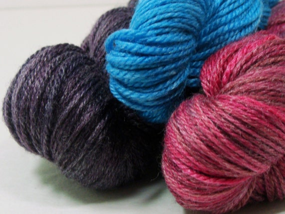 HALF OFF Cyrstal Socklet Yarn Kit 2012 Spring Knitty Three Bright Clear Colors